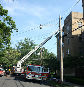 Leonia 2nd alarm Christie St. & Board Ave. 4 story Apt. Building  5-26-10