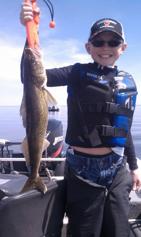 . Anthony Silver, 11, of St. Michael caught this walleye May 10, opening day on Lake Mille Lacs. (Photo courtesy Sean Silver)