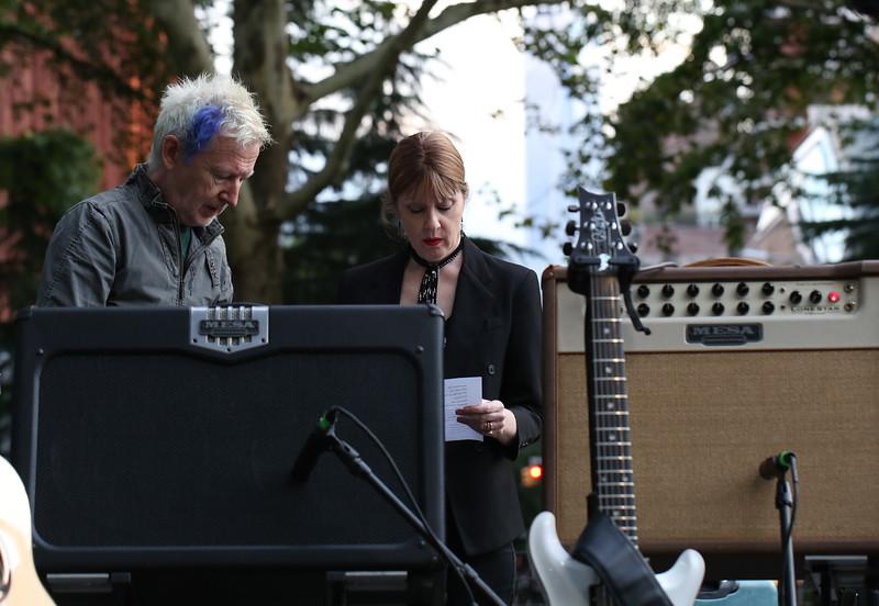 Gerry Leonard & Suzanne Vega Washington Square Park