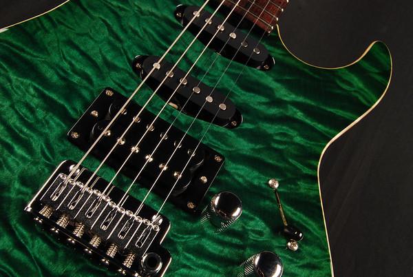 Bent Top, Deep Emerald Green, SSH Pickups
