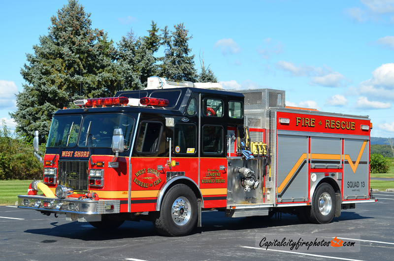 West Shore Bureau of Fire (Lemoyne) Squad 13: 1996 E-One Cyclone 1500/500