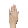 1.88ctw Art Deco style Saphhire and Diamond Dinner Ring 6