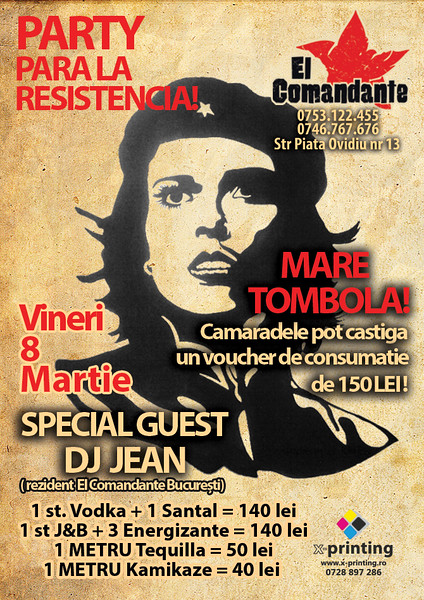 Party para la resistencia (8 Martie)