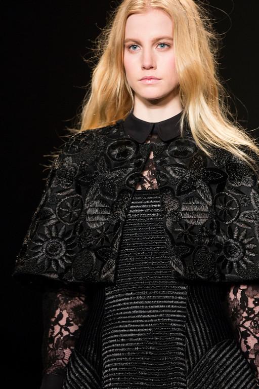 . A model walks the runway at the presentation of the Jill Stuart Fall 2013 fashion collection during Fashion Week, Saturday, Feb. 9, 2013, in New York. (AP Photo/John Minchillo)