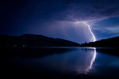 2011-07 - Lightning over Palisade Lake
