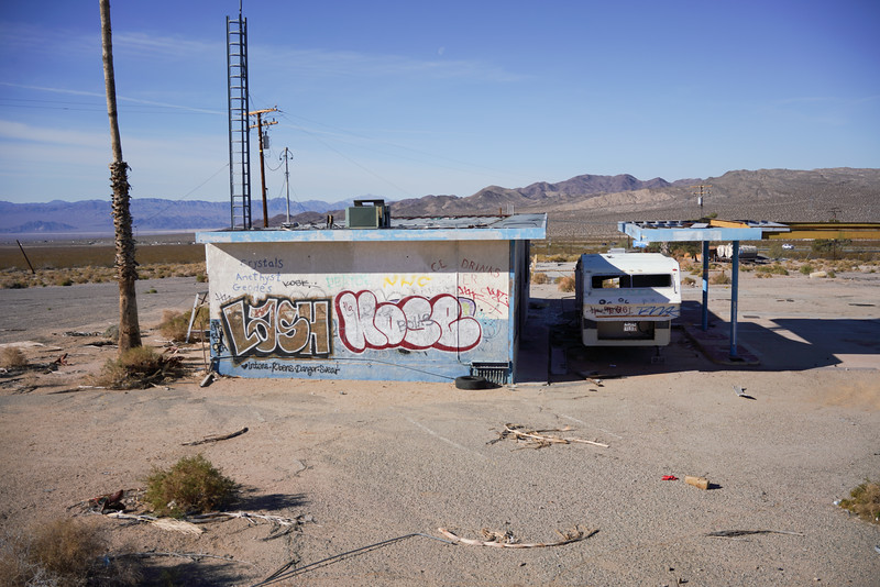 This used to be a gas station, off route 15 near Las Vegass