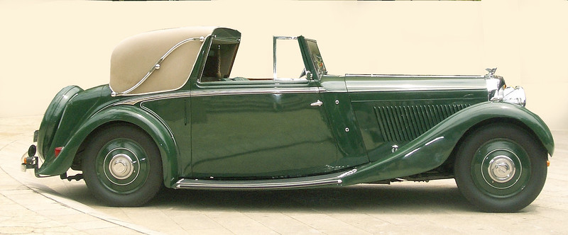 BXP114 Derby Bentley Sedanca Coupe by H. J. Mulliner