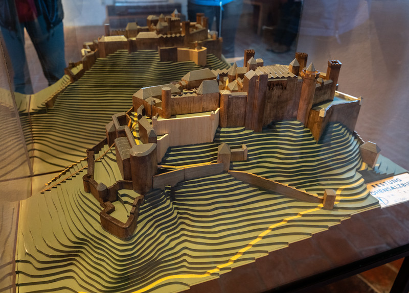 Model of the fortress, later phase