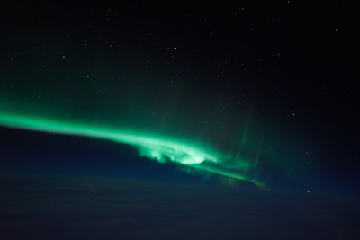 Aurora above the Clouds on March 27, 2015