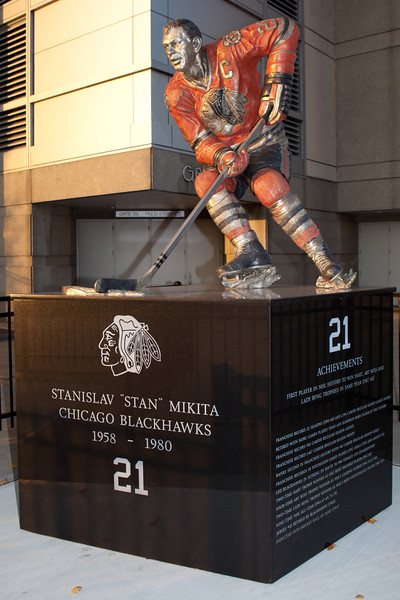 Blackhawks Statues