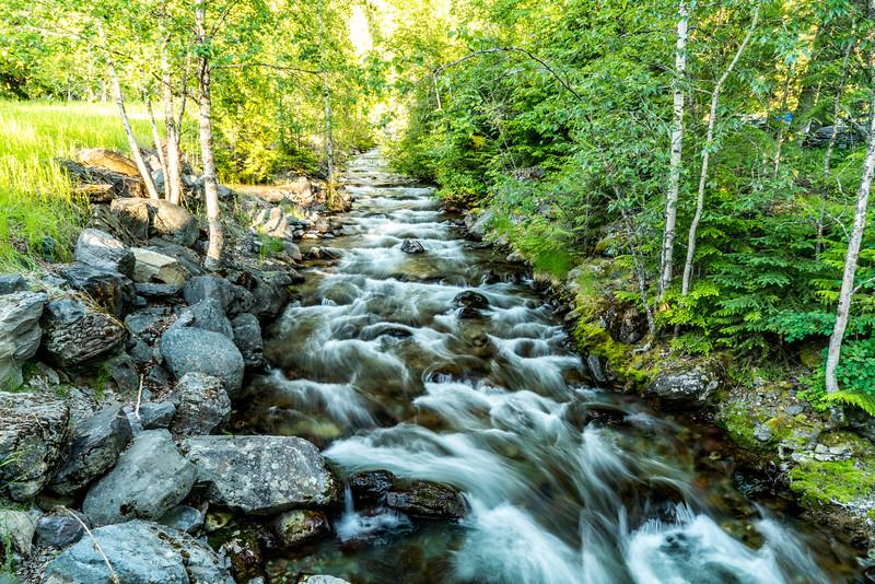 West Glacier Lodge stream