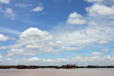 Homes on Thonle Sap Lake