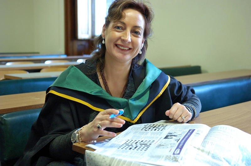 Provision 261006 Miriam Bell, Grad Diploma in Nursing Studies Course Leader, has a quiet moment before her students gather for their graduation ceremony at WIT. PIC Bernie Keating/Provision