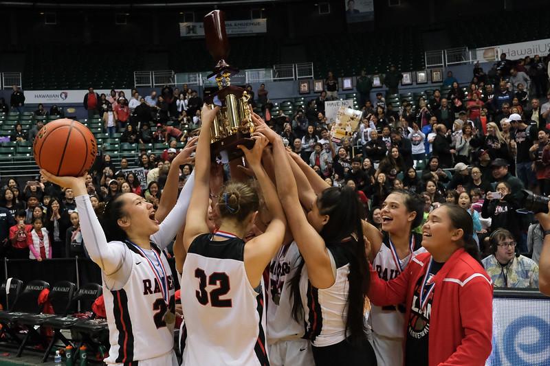 'Iolani Raiders Win Girls D1 State Basketball Championship on February 9, 2019