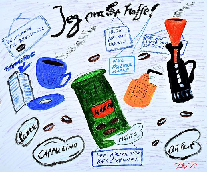 Lions Club København: Kendte danskere maler, 2010 Per Pallesen: Jeg maler kaffe