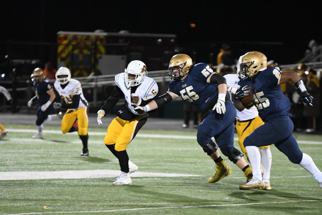 . Patrick Hopkins - The News-Herald Photos form the Brush vs. Akron Hoban Division III regional semifinal football game on Nov. 10.