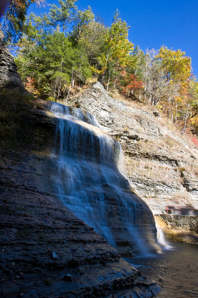 The waterfall at Robert Treman State Park near Ithaca NY.