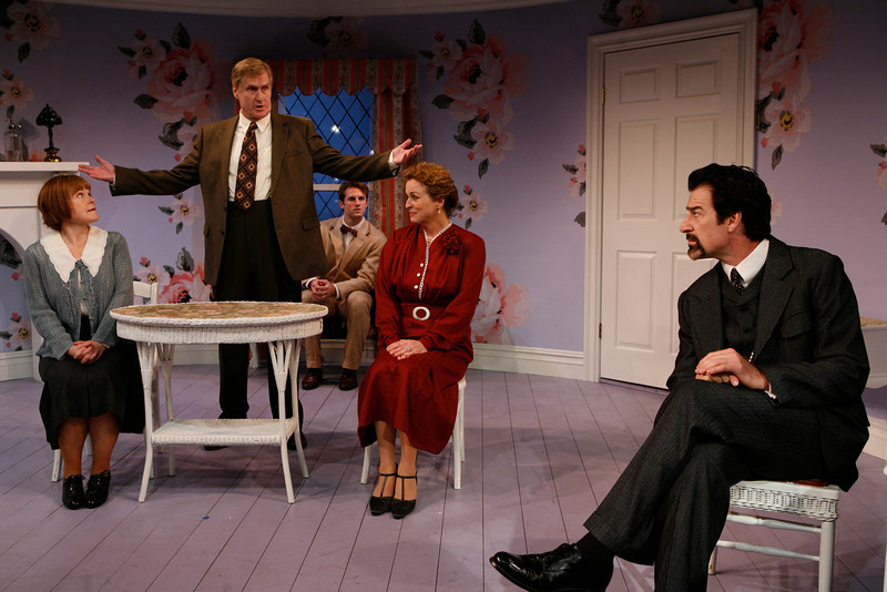 Margaret Daly, Paul O'Brien, Graham Outerbridge, Bairbre Dowling and Kevin Kilner in IS LIFE WORTH LIVING? by Lennox Robinson  Photo: Richard Termine