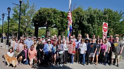 LGBTQ+ Pride Flag Raising, Lafayette Plaza