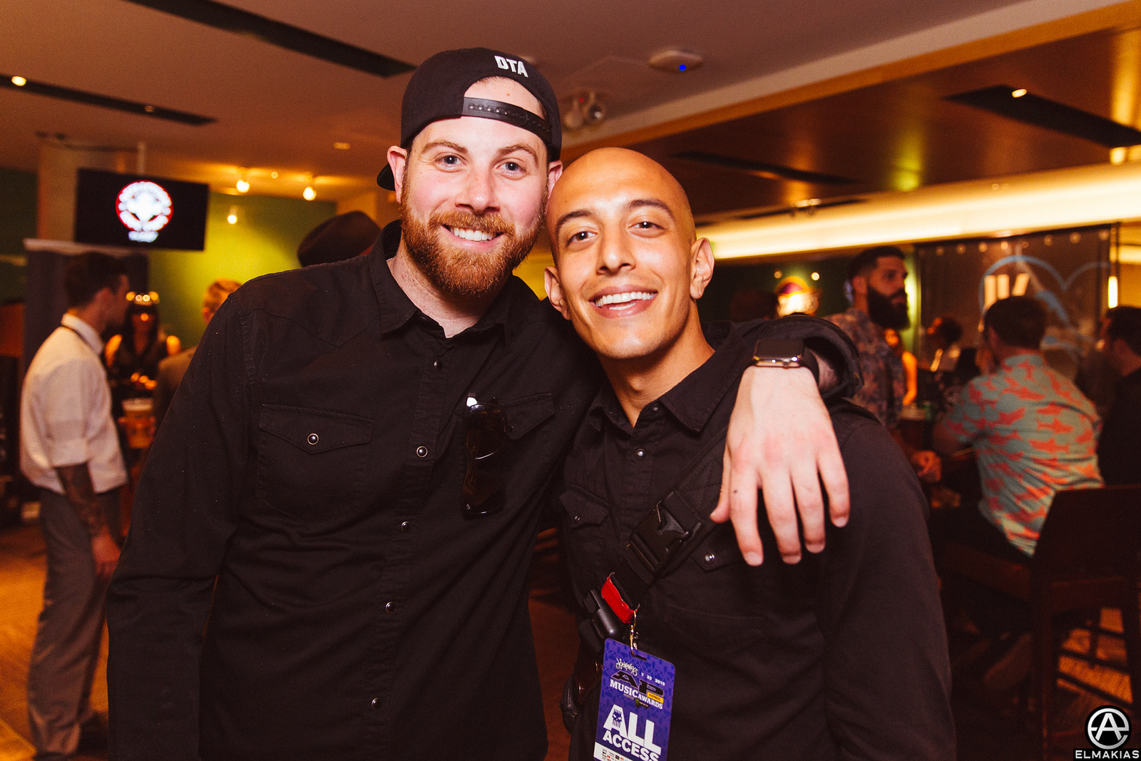 Adam Elmakias and Kevin Skaff of A Day To Remember at the APMAs 2015 by Adam Elmakias
