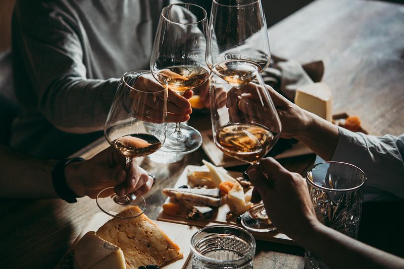 Enjoy wine and dinner each evening