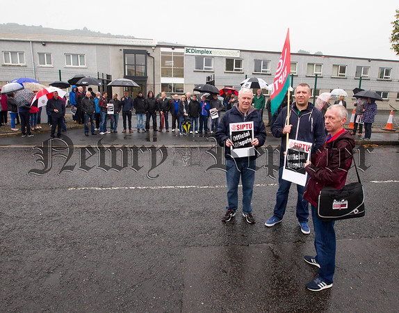 "© NewRayPics.com  18  Aug 2016 Northern Ireland SIPTU members  strike at Glen Dimplex Plant in Newry  SIPTU members at the Glen Dimplex manufacturing plant in Newry, Co Down Implemented a 'Work Stoppage' in a dispute with  the company concerning pay .   Alan Clark, SIPTU Chop Steward said "" Our members have sought to find a negotiated solution to this dispute. Glen Dimplex is a profitable company and it is only fair that the workers who produce it high quality heating and other products are rewarded in an acceptable manner for their work"". "" We regret that we have found it pessary to implement strike action in an attempt to bring an end to this dispute. ""  picture Newraypics.com"