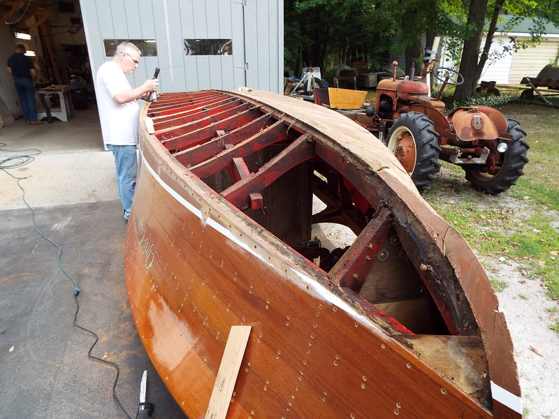Port side old bottom removed.