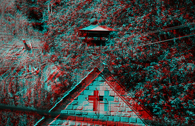 Crosses in Anaglyph Stereo