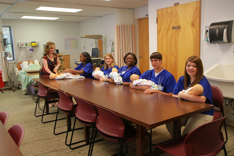 Qualified and selected nursing potential high school students from local area high schools participate in Code Teen at Gardner-Webb University, exploring and learning more about the field.