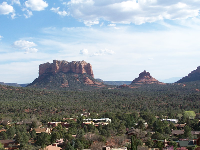 View of Courthouse Butte & Bell Rock from Chapel Hill