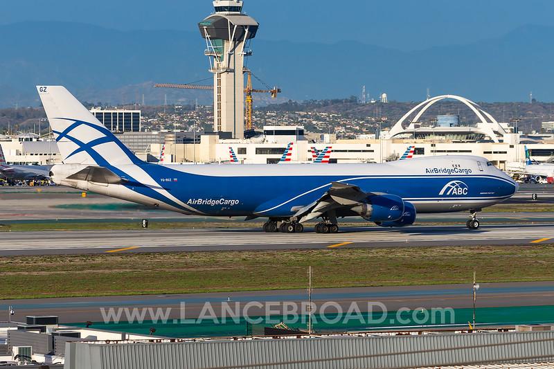 AirBridgeCargo 747-8F - VQ-BQZ - LAX