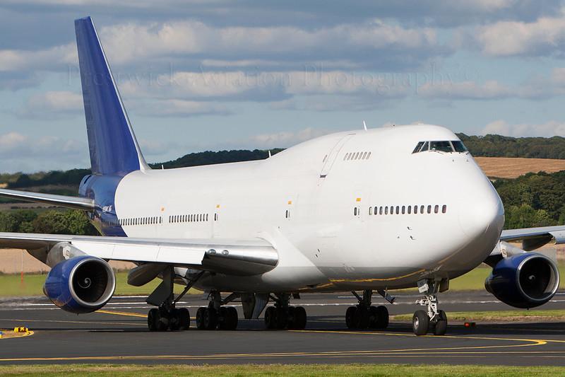 N355MC. Boeing 747-341M(SF). Atlas Air. Prestwick. 090807.