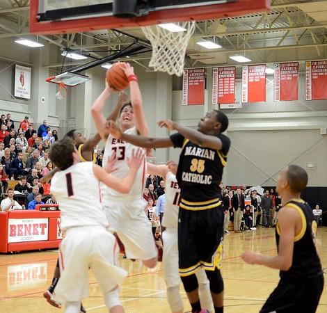 Boys Basketball: Marian at Benet 12/18/2014