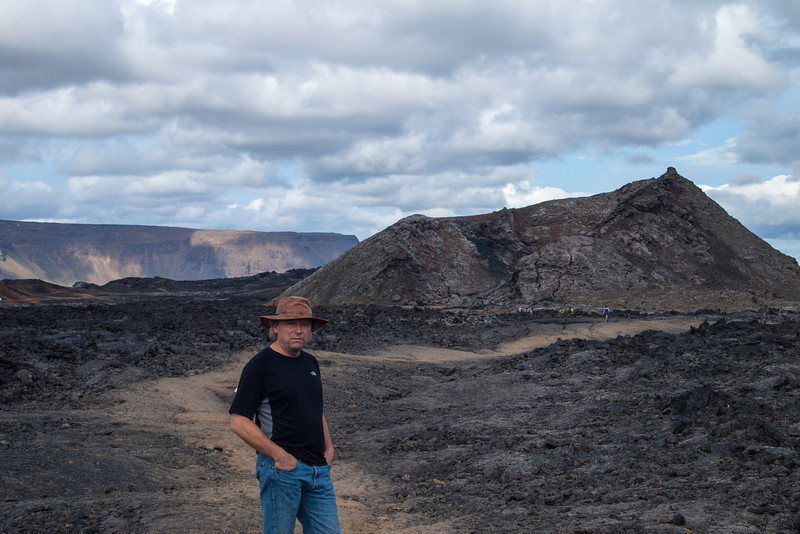 one of the Krafla lava field craters