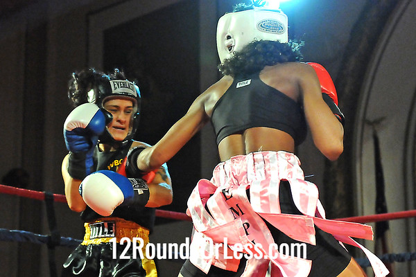 Bout 14 Ahara Archie, Empire BC, Cleveland -vs- Gia Genco-Brown, West Side BC, Cleveland, 123 lbs Novice