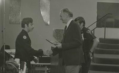Mayor Hudnut Presents IPD Awards at City-County Council Chamber, Circa 1977, Img. 7
