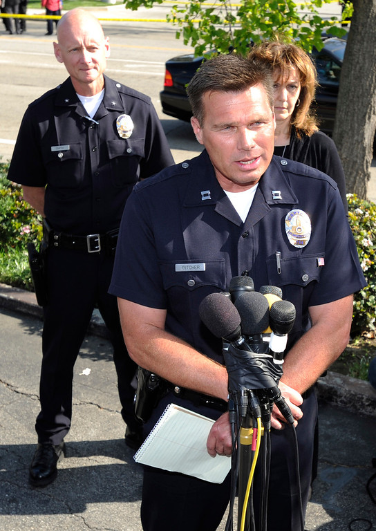 . After an 11-hour search, Nicole Ryan was found near a strip mall about six miles from her home, Los Angeles police Capt. Kris Pitcher said. Woodland Hills,CA 3/26/2013(John McCoy/Staff Photographer