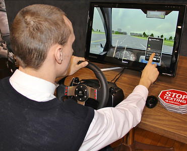 Driver Education Simulation, Pat Morgan, Marian High School, Tamaqua (2-25-2013)