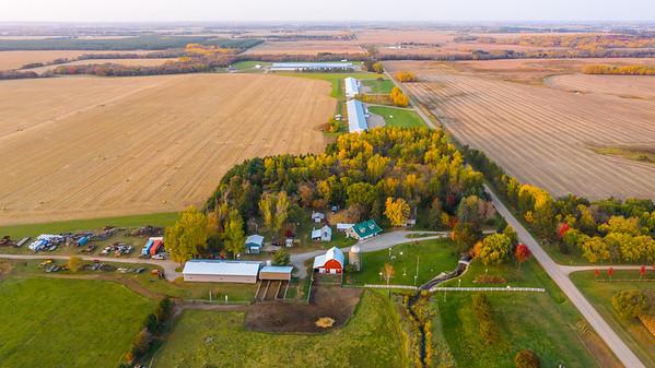 Drone Farm Sunset