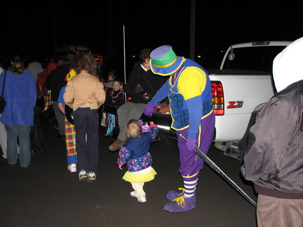 Ima Goof and Holly Lula went to the trunks to get some candy!