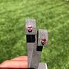 .79ctw Oval Padparadscha Sapphire Bezel Stud Earrings 10
