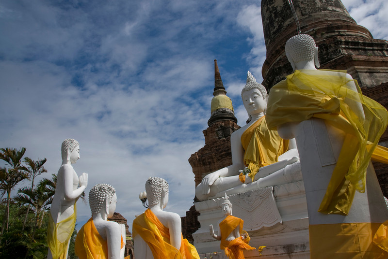 Buddha statues and stupas at Ayutthaya, Thailand