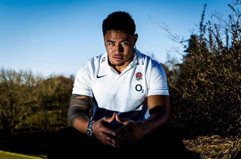 Rugby Union - England Training & Press Conference  - Pennyhill Park Hotel, Bagshot, Surrey Manu Tuilagi poses for a Portrait