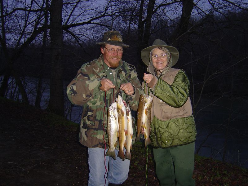 Mom and Stuart with their catch