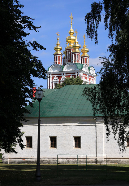 Novodevichy Convent - Transfiguration Gate Church viewed over the Exhibition Room.