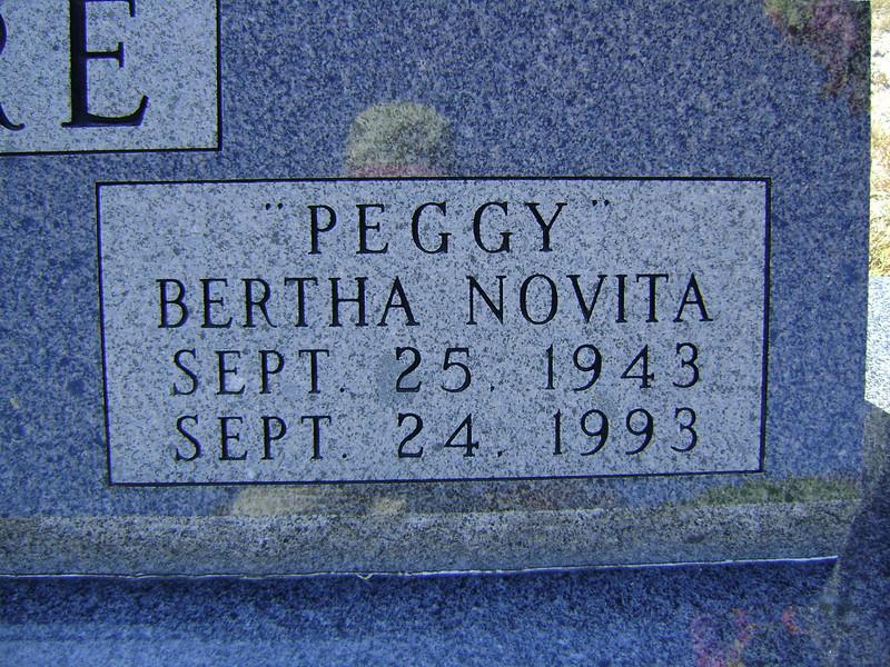 "MOORE, BERTHA NOVITA ""PEGGY"" (BRISTER) Lometa Cemetery, Section D, Lometa, Texas"