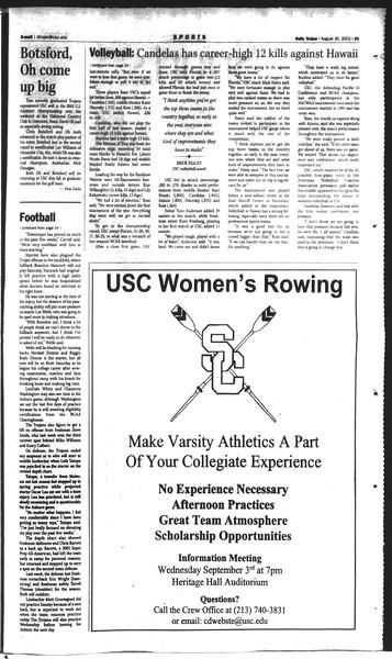 Daily Trojan, Vol. 150, No. 2, August 26, 2003