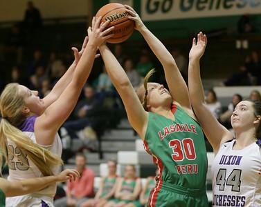 L-P vs Dixon Girls Basketball - Geneseo Tournament