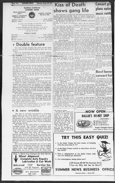 Summer News, Vol. 2, No. 22, August 18, 1947