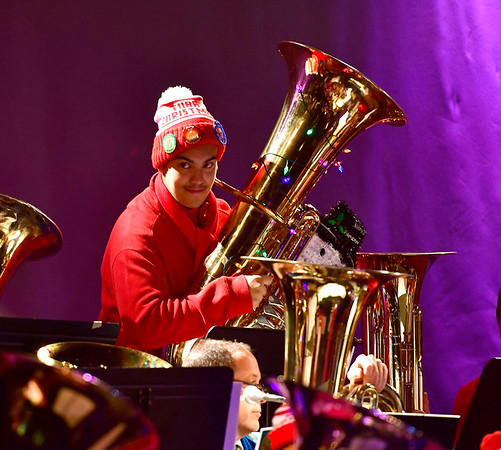 12/14/2019 Mike Orazzi | StaffrDavid Castro during the annual TubaChristmas concert held at Trinity-on-Main in downtown New Britain on Saturday.